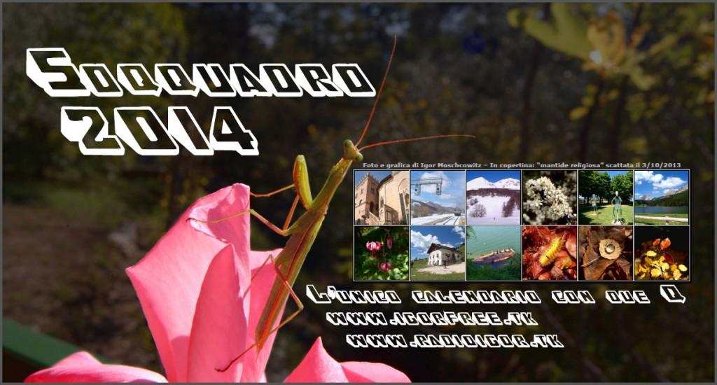 """Calendario """"Soqquadro 2014"""" da tavolo (quarta di copertina)"""